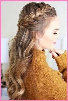 Easy Formal Hairstyles, French Braid Hairstyles, Try On Hairstyles, Box Braids Hairstyles, Trending Hairstyles, Pretty Hairstyles, Hairstyle Ideas, French Braid Ponytail, Teenage Hairstyles