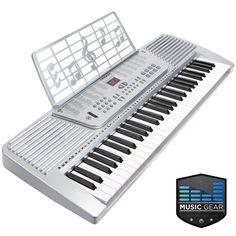 61 Key Electronic Music Electric Keyboard Piano - Silver #LeadingLiving