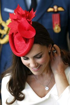 Kate Middleton in a Red Hat and Stunning as always