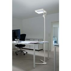 Gentil Belux Verto LED Office Floor Lamp Multisens + White Tone Modulation