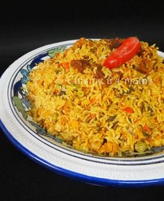 riz djerbien 8 - cuisine à4 mains Fast Healthy Meals, Healthy Crockpot Recipes, Cooking Recipes, Healthy Breakfast Potatoes, Healthy Breakfast Recipes, Crockpot Lunch, Tunisian Food, Beef Recipes For Dinner, Risotto