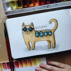 The Catbus!мой котобус. #samoshkinaart #samoshkina_art #illustration #illustrators #toppaint #inspire #insomnia #instaart #illustratenow #illustrationtrend #illustrationartists #art #artist #artwork #artplace #artkithen #art_spotlight #art_we_inspire #artwork_artist #toppaint #topdraw #topcreator #globalart #eatsleepdraw #painteveryday #paint #cat #cute
