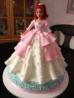 the ariel princess cake. ct now that is a princess cake! Barbie Birthday, Birthday Cake Girls, Princess Birthday, Happy Birthday, Barbie Torte, Bolo Barbie, Cupcakes, Cupcake Cakes, Beautiful Cakes