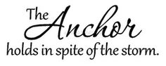 Anchor saying