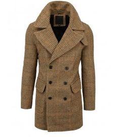 Hnedý pánsky kockovaný kabát Coat, Jackets, Fashion, Down Jackets, Moda, Sewing Coat, Fashion Styles, Peacoats, Fashion Illustrations