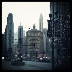 Downtown Chicago at Christmas time