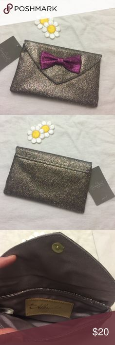 Anthropologie Glitter Envelope Clutch  Fun lightweight clutch Anthropologie Bags Clutches & Wristlets