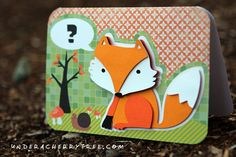 What Does the Fox Say? | a card made with Silhouette Studio and the Silhouette Cameo machine by Under A Cherry Tree
