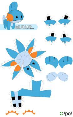 Easy+Pokemon+Papercraft+Mudkip+cakepins.com
