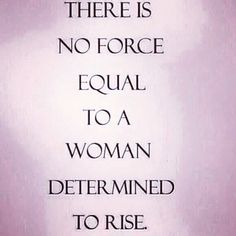 a woman determined