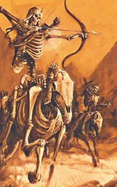 Cavalerie squelette, par (auteur inconnu), in Warhammer Battle 8e édition livre d'armée Rois des tombes, par Games Workshop