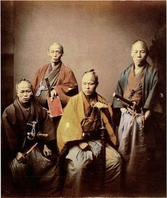 Samurai Warriors - Felice Beato photogrpaher - late 18th century Japan
