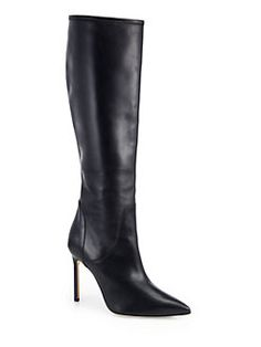 Manolo Blahnik - Hanzuotal Leather Knee-High Boots