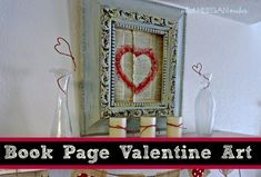Love book page valentines - Google Search