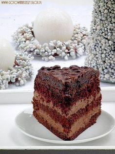 "Ciasto ""Kuszenie Pijanych Rodzynek "" Polish Desserts, Polish Recipes, Bakery Recipes, Cooking Recipes, Occasion Cakes, Food Cakes, Raisin, Cake Cookies, Delicious Desserts"