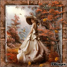 Vintage Herbstfrau