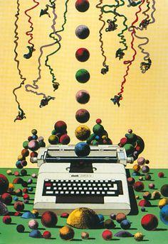 Olivetti vintage ad | Milton Glaser
