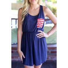 9289b8f5562  16.05 Casual Style Scoop Neck Sleeveless Stripes Spliced Women s Sundress  - Blue
