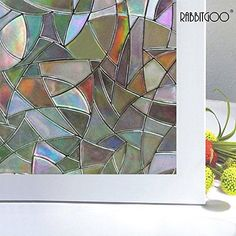 Rabbitgoo 3d No Glue Static Decorative Frosted Privacy Window Films for Glass... - http://home-garden.goshoppins.com/window-treatments-hardware/rabbitgoo-3d-no-glue-static-decorative-frosted-privacy-window-films-for-glass/