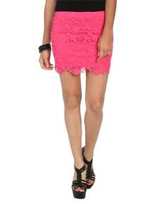 Crochet Lace Bodycon Skirt - Trending Now