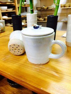 Ceramic Tea cup 새가 달린 도자기 티 컵