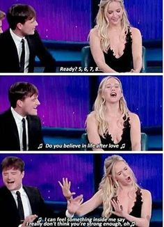 Jen and Josh singing Believe by Cher
