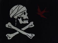 Jack Sparrow Pirate Flag Cross Stitch Pattern