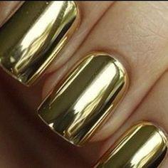 gold metallic nail polish