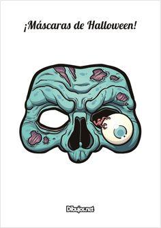 Celebra la fiesta de Halloween con una máscara totalmente terrorífica que sólo tendrás que imprimir y recortar. Hay 4 modelos diferentes: una máscara de calavera, una máscara de Bruja, una máscara de Zombie y una máscara de Calabaza. ¡Son espeluznantes!