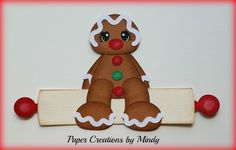 Craftecafe Mindy Christmas Gingerbread premade paper piecing for scrapbook page | eBay