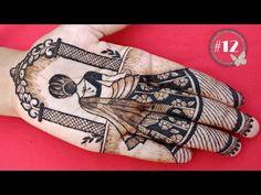 How to draw full bride using mehndi #12 | मेहंदी से दुलहन कैसे बनाये | how to draw full bride - YouTube Latest Simple Mehndi Designs, Mehndi Designs Front Hand, Latest Bridal Mehndi Designs, Stylish Mehndi Designs, Mehndi Designs 2018, Mehndi Designs Book, Mehndi Designs For Girls, Mehndi Designs For Beginners, Mehndi Design Photos