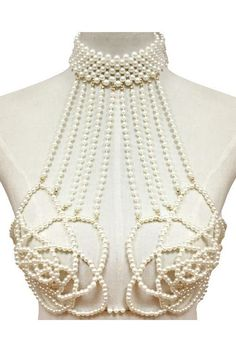 Chain Men Style faux pearl rose choker necklace body bra swimsuit body chain - items will ship within business days after payment is received Star Jewelry, Body Jewelry, Fine Jewelry, Jewelry Necklaces, Diamond Necklaces, Rose Choker, Opal Gemstone, Gemstone Jewelry, Handmade Jewelry