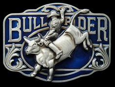BLUE COWBOY RANCH BULL RIDER RODEO WESTERN BELT BUCKLE BELTS BUCKLES Rodeo Belt Buckles, Cool Belt Buckles, Cowgirl Bling, Cowboy And Cowgirl, Cowboy Ranch, Cowboys Cap, Rodeo Girls, Bull Riders, Western Belts