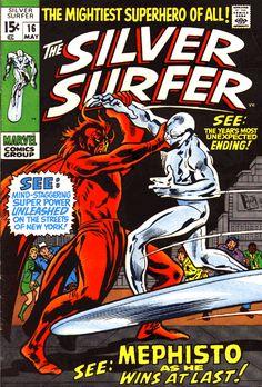 Silver Surfer # 16 by John Buscema & Dan Adkins