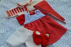 Waldorfpuppen - *Set  Ida * für 38 cm Stoffpuppen - ein Designerstück von Puppenmacherin_stoffpuppenat bei DaWanda