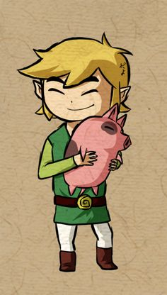 Link loves piggies by Icy-Snowflakes.deviantart.com on @deviantART