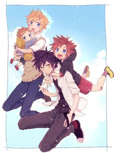 Kingdom Hearts Ventus, Terra Kingdom Hearts, Kingdom Hearts Funny, Kingdom Hearts Fanart, Cry Anime, Anime Art, Girls Anime, Anime Guys, Vanitas Kh