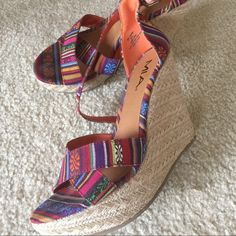 Wedge sandals by MIA Only $10! In great condition! MIA Shoes Sandals