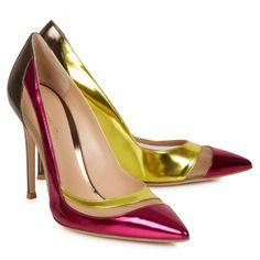 gianvito rossi pink metallic leather pumps - http://www.harveynichols.com/womens-1/categories/designer-shoes/high-heels/s471087-metallic-leather-pumps.html?colour=PINK+AND+OTHER
