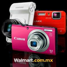 Guarda tus mejores recuerdos con las cámaras digitales Sony, Samsung, Canon y Panasonic que tenemos a súper precios sólo en línea. Además, puedes pagar a meses sin intereses. Walmart.com.mx, Hacemos Clic!