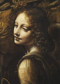 Leonardo da Vinci - la Virgen de las rocas (la Virgen con el niño San Juan adorando el b Cristo niño acompañado