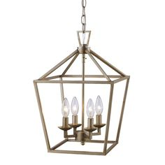 Love this classic chandelier light fixture - the aged gold color is perfection! Lantern Chandelier, Lantern Pendant, Pendant Lighting, Light Pendant, Iron Console Table, Classic Lanterns, Interior Design Themes, Farmhouse Lighting, Joss And Main