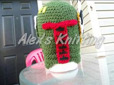 Boba Fett Inspired Helmet Beanie by AlexandreasKnitting on Etsy