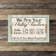 Customized Visiting Teaching Calling Cards by bowpeepcreations, $1.99 LDS Visit Teach digital washi tape distressed wood