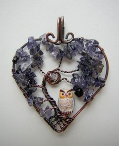10 Off Iolite Tree of Life Wire Wrapped by RachaelsWireGarden, $45.50