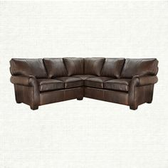 Brentwood 94  Two Piece Leather Sectional In Matador Walnut | Arhaus Furniture & Brooklyn 32