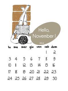I disegni di Mae / november calendar illustrated