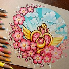 Sailor Moon Concept Art is part of pencil-drawings - pencil-drawings Cartoon Tattoos, Anime Tattoos, Body Art Tattoos, Sailor Moon Fan Art, Sailor Moon Crystal, Sailor Scouts, Cute Drawings, Pencil Drawings, Tenacious D