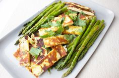 Za'atar Spiced Haloumi & Asparagus recipe – All 4 Women Vegetarian Recipes, Healthy Recipes, Healthy Desserts, Lunch Recipes, Clean Eating Dinner, Healthy Family Meals, Asparagus Recipe, Healthy Side Dishes, Vegetable Dishes
