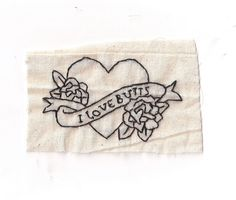 I Love Butts Patch by Hanecdote on Etsy, £5.00